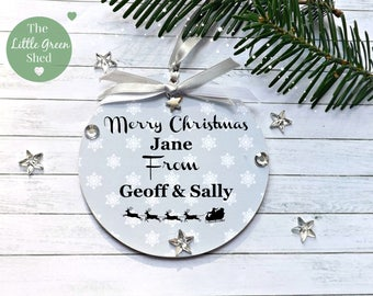 Christmas Sign Xmas Sign Personalised Hanging Keepsake