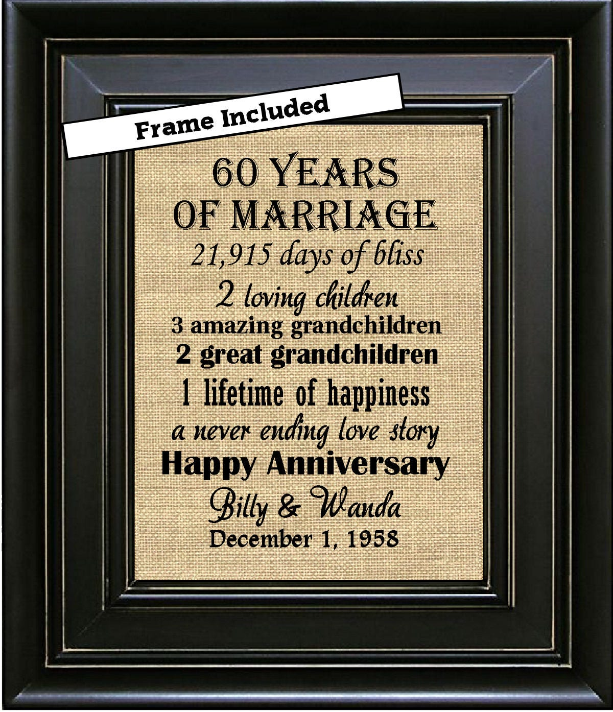 Gifts For 60th Wedding Anniversary