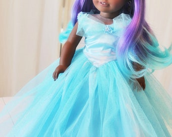 EXAMPLE African American Princess - Beautiful princess with ombré hair one-of-a-kind MADE-2-ORDER