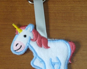 Cute Critter unicorn keychain