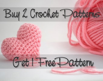 Buy 2 Crochet Patterns Get 1 Free Crochet Pattern
