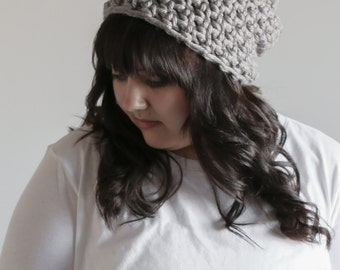Slouchy Beanie Hat Chunky Crochet Cap | THE TOFT in Mushroom