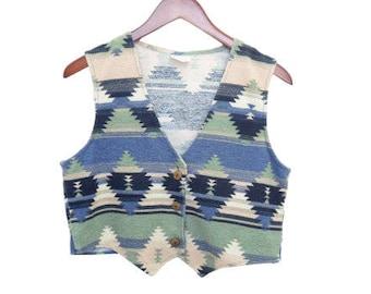 NOW 4 LESS- Vintage Navajo Vest