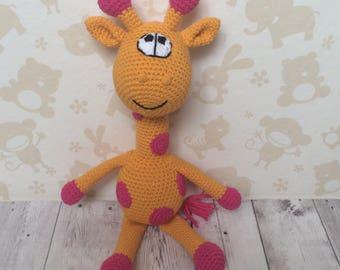 Crochet Giraffe, stuffed giraffe, giraffe toy, giraffe doll, animal toy giraffe, giraffe gift, giraffe baby shower, knit giraffe, giraffe