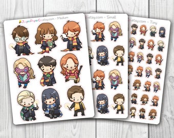 Wizards & Witches 1 Character Stickers