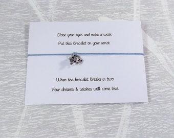 Elephant wish bracelet, elephant bracelet, elephant gift, elephant jewellery, wish bracelet, gift for her, gift for teenage girl.