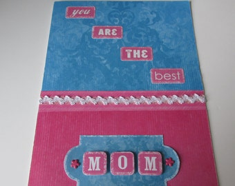 "Happy Mother's Day Card, ""You are the best MOM!"" simple and elegant"