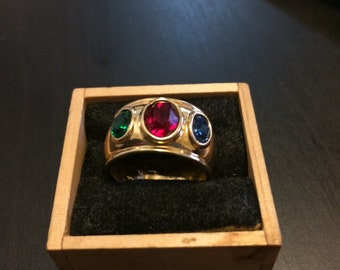 Vintage 3 Stone Cocktail Ring