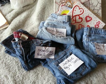 3 qty. FADED GLORY regular size 12, and 1 qty. JORDACHE size 14 jeans.