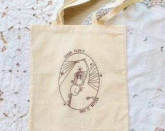 illustrated tote bag - giada floris does it better - shopper - tote bag - illustrated bag - tote bag cotton - giadafloris - giada floris
