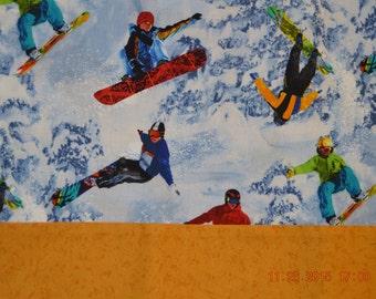 Snowboarding Pillowcase