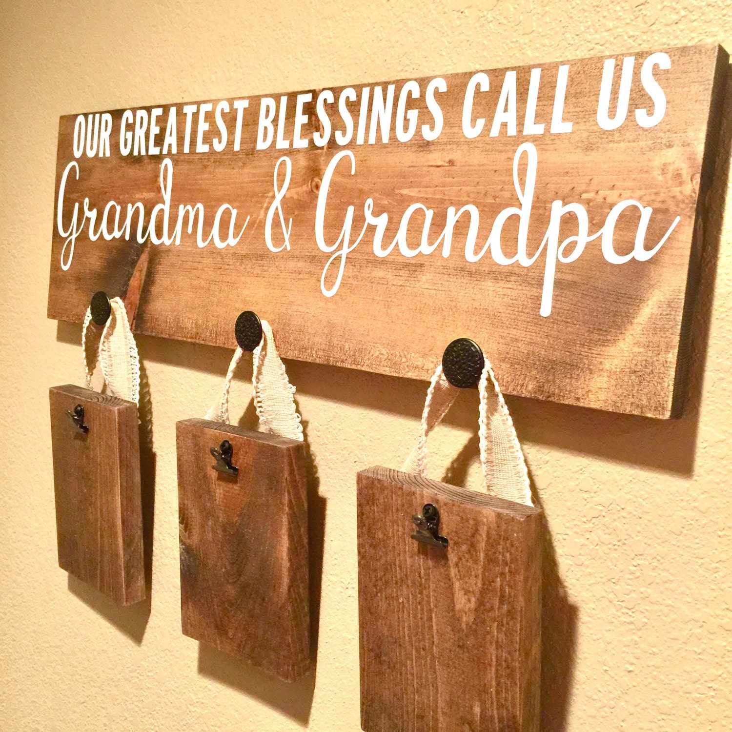 Our Greatest Blessings Call Us Grandma & Grandpa Wall Sign