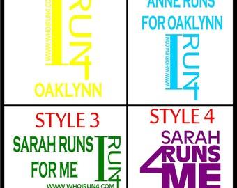 I RUN 4 - Vinyl - Decal
