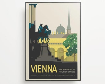 Vintage Travel Poster Vienna Giclée Print