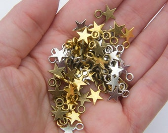The Star Collection - 75 star charms 10.5 x 7.5mm