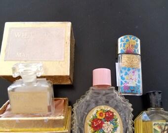 Set of 4 vintage perfume bottles