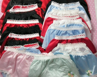 25 pair Doll Panties Clearance Close Out lot Combine Orders 2 Save
