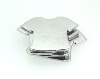 16G 1.2mm thick Aluminium blanks x10 - T-shirts - stamping supplies