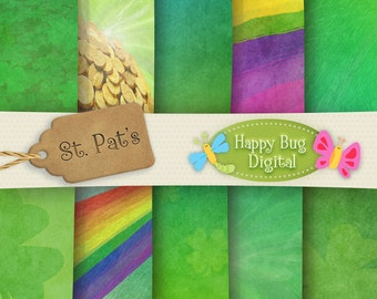 St. Pat's Digital Paper Pack Commercial Use OK - INSTANT DOWNLOAD