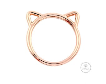 Rosé gold ring 'Cat'