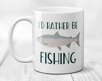 Id Rather Be Fishing Coffee Mug, Ceramic Coffee Cup, Rather Be Fishing, Fishing Mug, Gift for Dad, Dad Fishing Gifts, Fishing Gifts 11/15oz