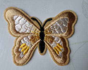 x 1 badge/patch embroidered fusible Butterfly cluster 6.8 x 5.2 cm