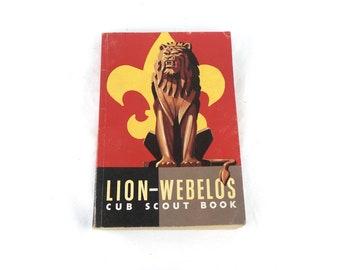 1965 Printing Lion-Webolos BSA Boy Scout Handbook, Boy Scouts Vintage Books