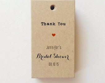 Thank You Bridal Shower Tags Rustic Bridal Shower Favor Tags Bridal Shower Gift Tags wedding tags (25)