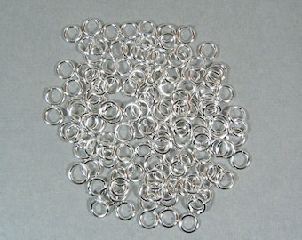 6mm Silver Plated Jump Rings
