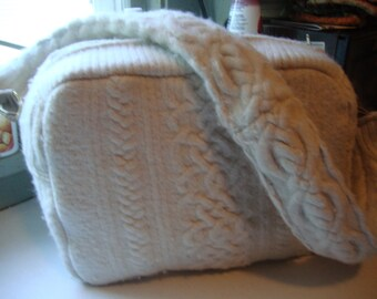recycled wool bag