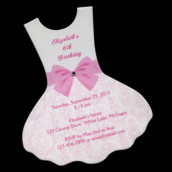 Personalized birthday party invitations dress ballet tutu zoom filmwisefo Gallery