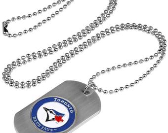 Toronto Blue Jays Dog Tag Beaded Necklace