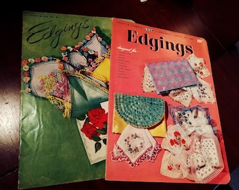 Vintage Edgings Booklets ~ Coats and Clarks ~ American Thread Company ~ 1950s Crochet Tatting Lace