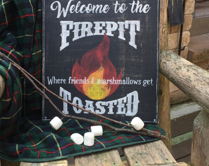 Firepit Sign. Welcome to the Sign. Camping Sign Wood. Welcome to the Firepit. Camping Gift. Backyard Decor. Backyard Movie Night. Game Night