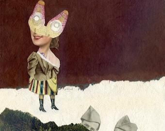 Chloé / collage original / Les déserteurs