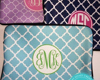 Personalized Laptop Sleeve   Monogram Laptop Case   MacBook Sleeve   Choose Colors  Personalized gift for her