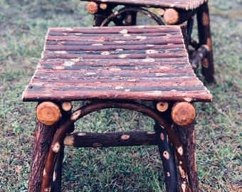 Asian Style Willow sitting stool