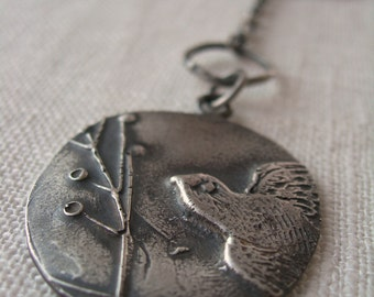 Recycled Silver Pendant - Sweet Migration- Sterling Silver Necklace by iNk