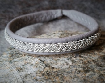 Sami Bracelet, Tenntrådsarmband, Leather bracelet, Scandinavian craft, Sami craft, Nordic jewelry