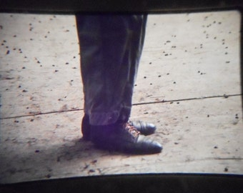Vintage 35mm Photo Slide Abstract Shoes Feet Legs Disembodied