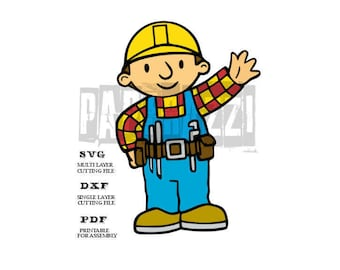 Bob the Builder SVG Electronic cutting files for Cricut Design Space - Silhouette Studio