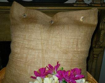 Burlap Farmhouse Pillow sack