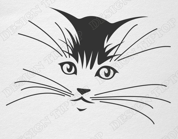 Cat Svg File Kitten Svg Png Eps Cat Clipart Cat Vector