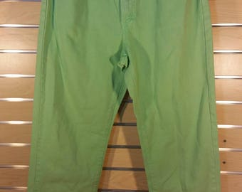 Rare Vintage 90's Tommy Hilfiger Retro Light Green Jeans