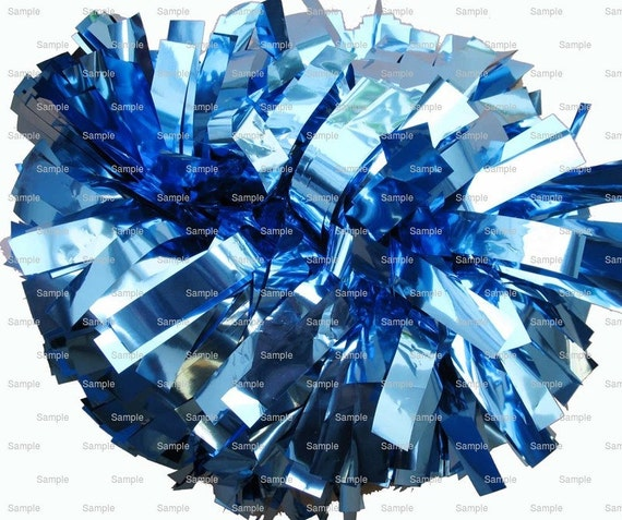 Blue Pom Pon Birthday - Edible Cake and Cupcake Topper For Birthday's and Parties! - D9982