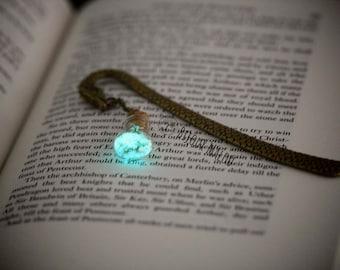 Luminous Dragon Bookmark Glow in the Dark Bookmark Bottle Bookmark Christmas Gift Nerdy Gift Metal Dragon Bookmark Green Blue Bronze