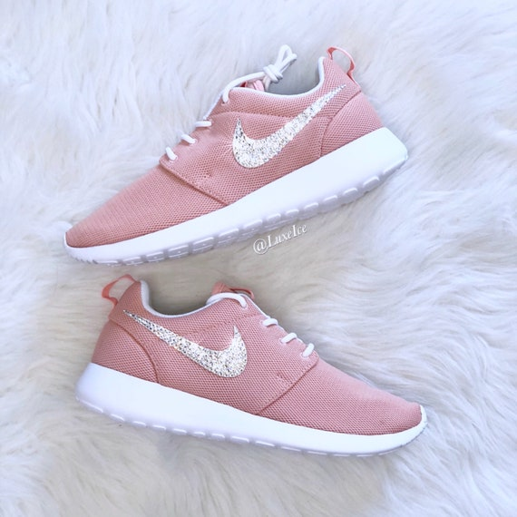 Nike Roshe One Coral Stardust/White customized with