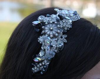 Vintage Hollywood Bridal Headband/ Wedding/ Vintage Inspired/ Hollywood Glamour
