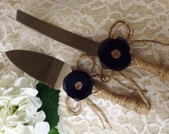 WeddingCakeServingSet,Wedding cake knife set,Rustic cake cutting set,cake knife & server set,Cake Decoration,Wedding Accessory,Personalized