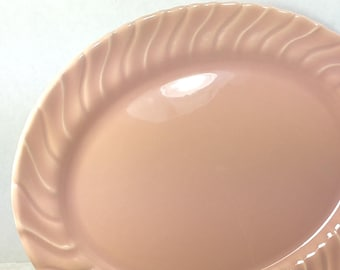 """CORONADO PLATTER, 1940's Franciscan Pottery, 11"""", Glossy Coral, Vintage Collectible Tableware, Dishes"""